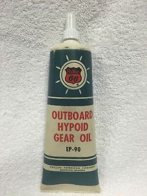 Rare.Vintage.Phillips 66 Outboard Hypoid Gear Oil Tube EP-90 Excellent Condition