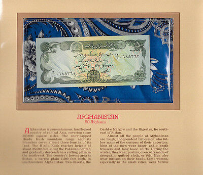 Most Treasured Banknotes Afghanistan 50 Afghanis 1979 P 57a.1 UNC