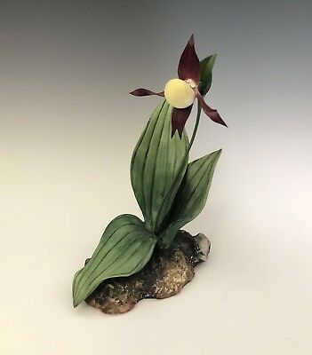 Boehm Porcelain Lady's Slipper Rare Wild Flower Collection Cypripedium 26-001