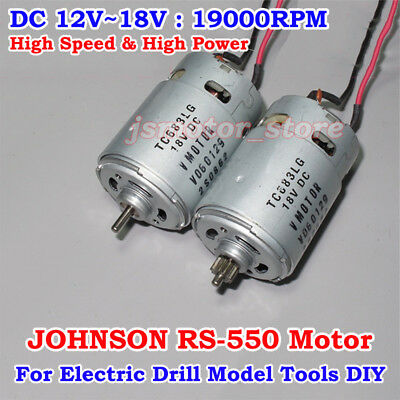 DC 12V 18V 19000RPM High Speed Power JOHNSON RS-550 Electric Motor Cooling fan