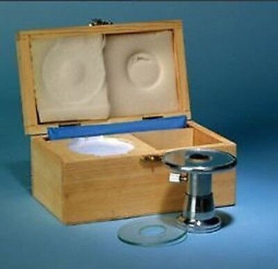 Bare-Handed Microtome - Includes Razor, Glass Stage Overlays & Wooden Case