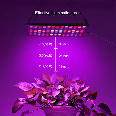 PopularGrow Full Spectrum 45W LED Grow Light Silver For Indoor Plant Panel Lamp