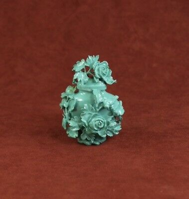 19th C CHINESE TURQUOISE CABINET SNUFF BOTTLE