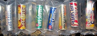 LOT of 7 Vintage Old 1950's 1960s 7/8 in. Unopened Roll Life Savers Candy
