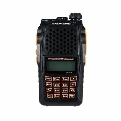 Baofeng UV-6R Dual Band UHF VHF Two Way Walkie Talkie FM Radio + Earpiece UK