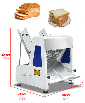 """110V Commercial Automatic Electric Bakery Bread Slicer Cutting Machine 5/8"""""""