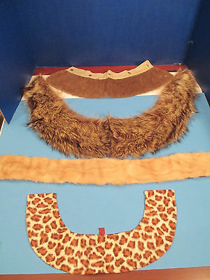 Lot of 4 Vintage Collars Scarf Fur Raccoon Mink + Faux Fur Fashion