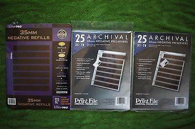 35mm Film Negative Archival Preservers Pages Refills Print File Ultra Pro LOT