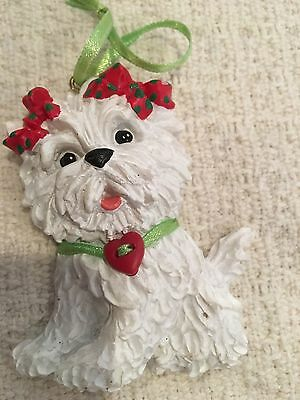 """West Highland White Terrier Dog Christmas Tree Ornament  3 1/4"""""""
