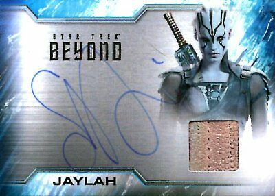 Star Trek Beyond COSTUME RELIC / AUTOGRAPH CARD of SOPHIE BOUTELLA Jaylah