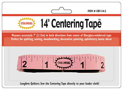 LONGARM CENTERING TAPE ~ 14 FEET by Colonial Needle Company
