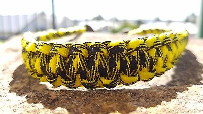 Archery Bow Sling 550 Paracord Black & yellow camo   +3 zipper pulls