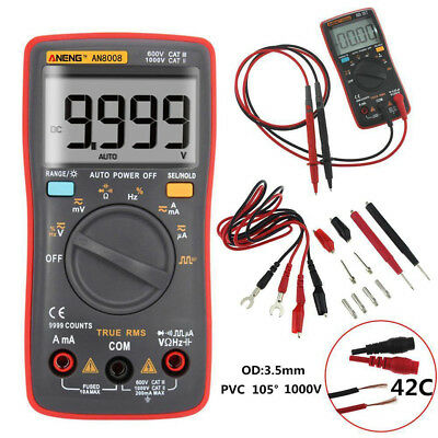 AN8008 True-RMS Digital Multimeter 9999 Counts Square Wave Voltage Ammeter