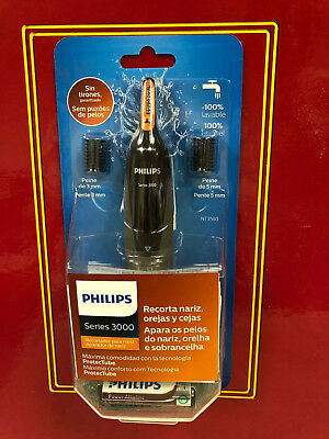 Philips NT3160 Nose Ear Eyebrow Hair Trimmer Shaver Washable/No Pulling/No Cut