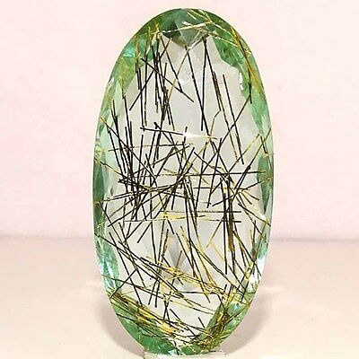 GORGEOUS GOLDEN NEEDLE DOUBLET RUTILE OVAL CABOCHON LOOSE GEMSTONES 175.40Cts.