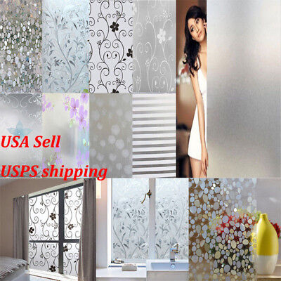 High Quality Waterproof Frosted Privacy Window Glass Cover Film Sticker 10m/33FT