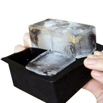 Silicone Ice Cube Tray Mold Maker Square Ice Block Mold for Whiskey Cocktail JA
