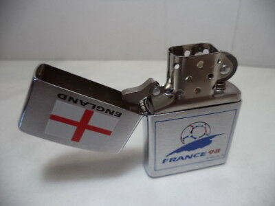 zippo lighter issued for france 1998 world cup with england flag emblem rare new