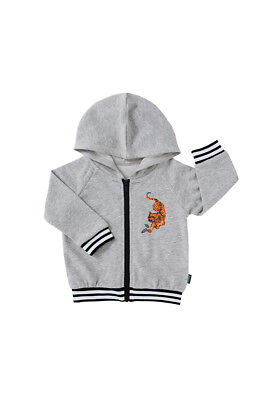 Nwt Bonds Grey Tiger Retro Ribs Bomber Jacket Hoodie 18-24 Months Size 2 Rrp $37