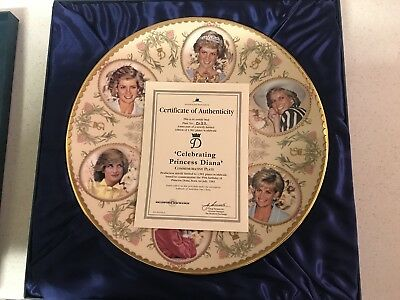 Limited Edition Princess Diana Commemorative Plate
