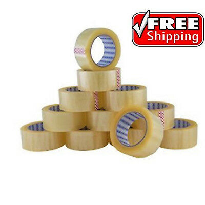 12 Rolls OF CLEAR EXTRA STRONG Parcel Carton Tape Packing Packaging 48mm x 66m