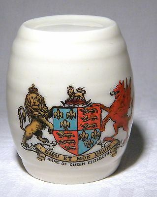 Goss Crested China  Devon Cider Barrell  Queen Elizabeth (B32)