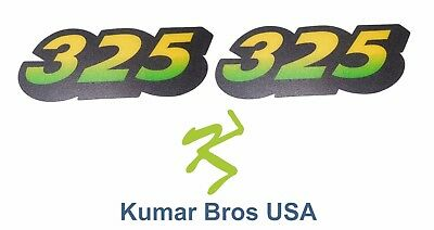 New Lower Hood Set of 2 Decals Replaces M135982 Fits John Deere 325 Up S/N
