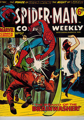 SPIDER-MAN COMICS WEEKLY - 34 issues from No. 57 - 1974 Marvel