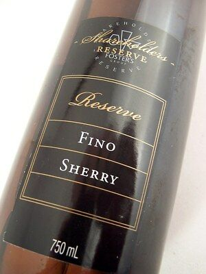 1998 circa NV FOSTERS Shareholders Reserve Fino Sherry Isle of Wine