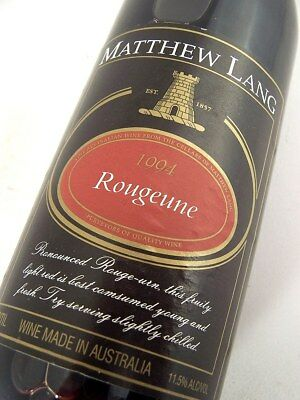 1994 MATTHEW LANG Rougeune Red Blend A Isle of Wine