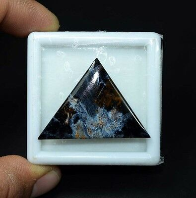 28.00 Cts. 100% Natural Chatoyant Pietersite Triangle Cabochon Loose Gemstones
