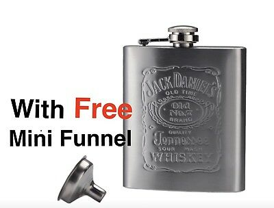 Jack Daniels flask with free mini funnel