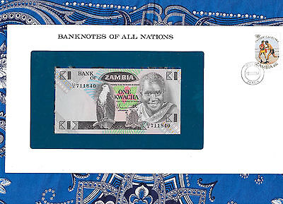 Banknotes of All Nations Zambia 1980 1 Kwacha P23a UNC prefix 60/A