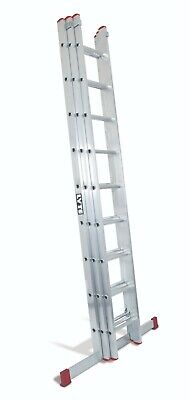 Lyte DIY Domestic Aluminium Extension Ladders UK Manufactured Triple / Doubles