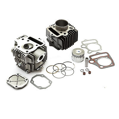 Motor Cycle Bike CYLINDER HEAD BARREL Kit Change 90cc - 110cc Gasket Piston 90