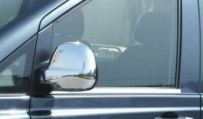 Chrome Wing Mirror Trim Set Covers To Fit RHD Mercedes-Benz Vito W639 (2003-09)