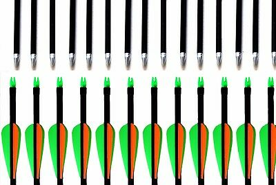 "New Fibreglass 28""29""30""31.5"" Archery Arrows steel tip great for Target Practise"