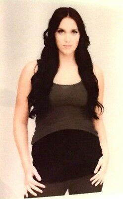 Belly Button Body Maternity Band Top Extender Pants Converter Black Large