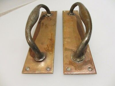 Antique Bronze Door Handles Shop Pulls Pub Architectural Antique Brass Old  10""