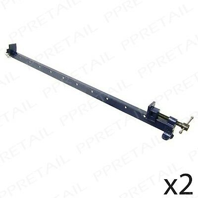 "Pair T Bar Sash Cramp Woodwork Clamp 1200mm/48"" INCL VAT Heavy Duty Cast Iron"