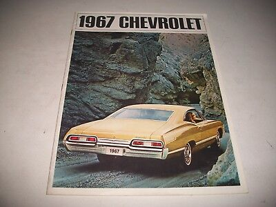 Cdn. 1967 Chevrolet Full Size Cars Deluxe Sales Brochure Impala  Belair Biscayne