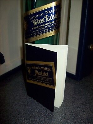 Johnnie Walker Blue Label Rare Leather Box Bottle Booklet Collectible