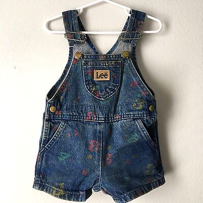 Lee Overalls Toddler Size 24 Months Vintage ABC 123 Made in USA UGWA