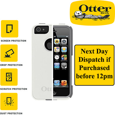 Otterbox Commuter Case Iphone 5 / 5s + Screen Protector White & Grey