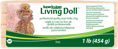 Super Sculpey Living Doll Beige 1lb 454g 3 PACK - LOWEST PRICE IN UK - 3 x 1LB