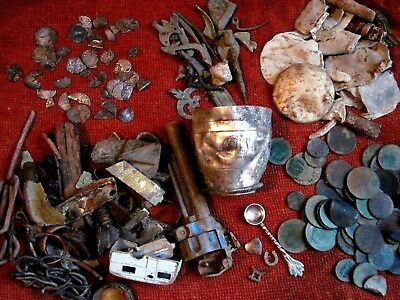 metal detecting finds, job lot, hammered silver,medieval, Roman coins, artefacts