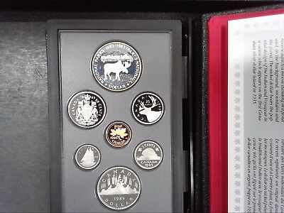 1985 Canada Proof Double Dollar Set - Canadian 7-Coin Set - With Box/coa