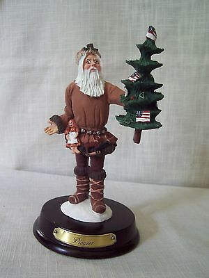 Duncan Royale History of Santa Claus PIONEER Figurine Stand and Box