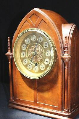 Fantastic Gothic Revival Style ,19th Century, Mantle Clock