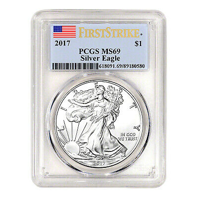 2017 $1 American Silver Eagle MS69 PCGS - First Strike